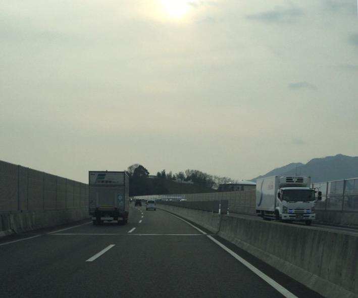 広島から宮島へ西広島バイパスで車移動