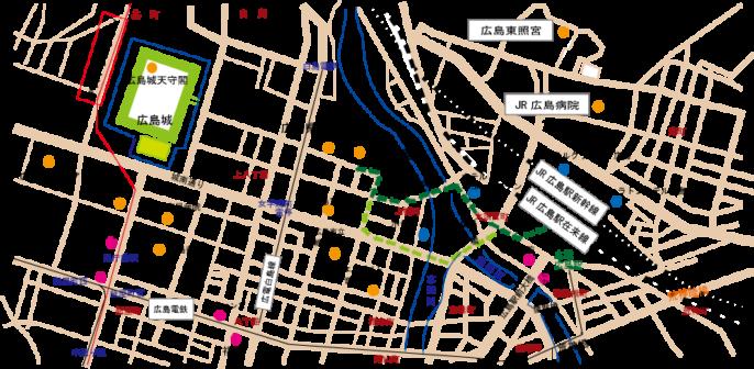 広島市観光マップ