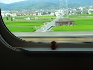 広島観光に向かう新幹線