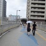 雨の日は呉駅から歩道橋を歩くのがおすすめ